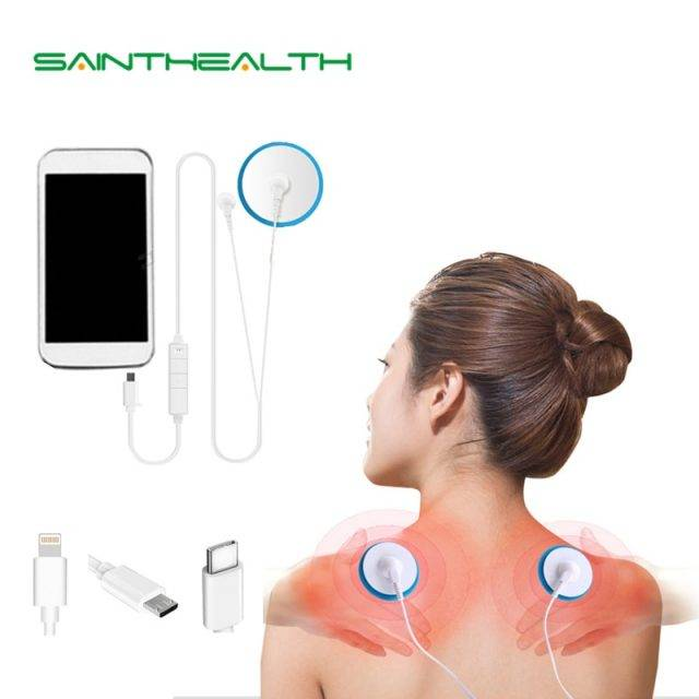 Portable Muscle Stimulator Body Massager Phone Connection